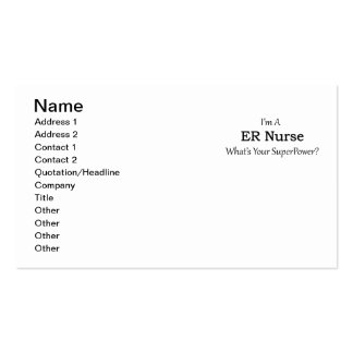 ER Nurse Pack Of Standard Business Cards