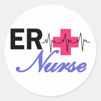 ER Nurse Round Sticker