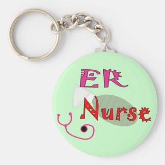 ER Nurse T-shirts & Gifts Basic Round Button Key Ring