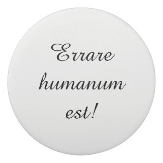Erases with latin proverb eraser