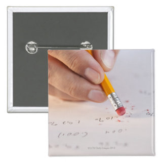 Erasing incorrect numbers 15 cm square badge