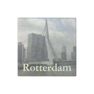 Erasmus Bridge, Rotterdam Stone Magnet