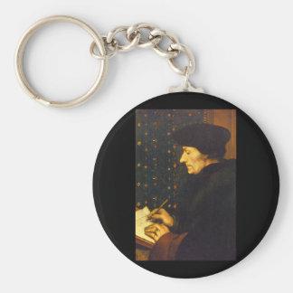 Erasmus', Hans Holbein the_Dutch Masters Basic Round Button Key Ring
