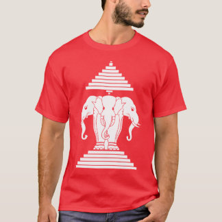 Erawan Three Headed Elephant Lao / Laos Flag T-Shirt
