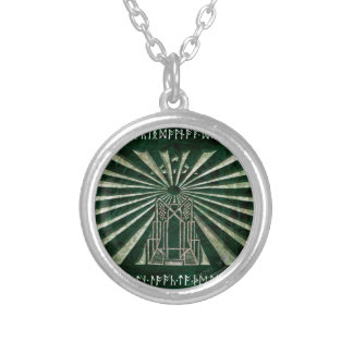 Erebor Graphic Silver Plated Necklace