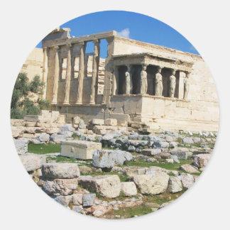 Erechtheum Acropolis - GREECE Round Sticker