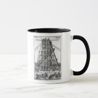 Erecting the Ancient Egyptian Obelisk Mug