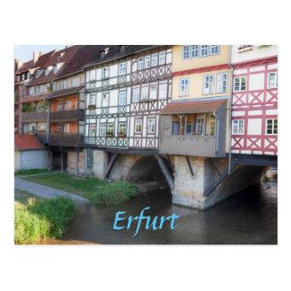 Erfurt Merchants Bridge photo Postcard