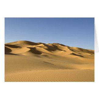 Erg Awbari, Sahara desert, Fezzan, Libya. 5 Card