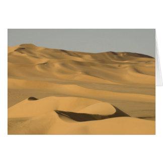 Erg Awbari, Sahara desert, Fezzan, Libya. Card