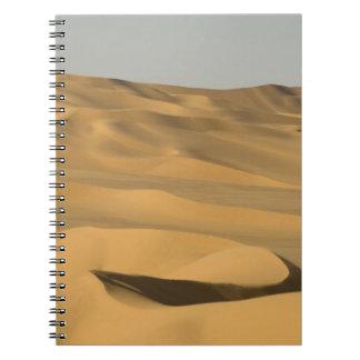 Erg Awbari, Sahara desert, Fezzan, Libya. Notebooks