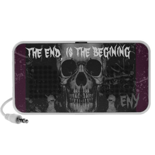 """Ergasia Ny """"the end, is the begining' Portable Speaker"""