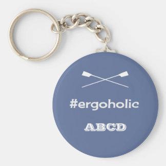 Ergoholic hashtag slogan personalised initials key ring
