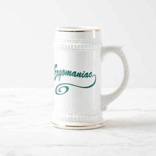 Ergomaniac or Workaholic Beer Steins