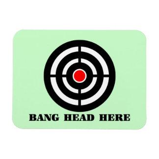 Ergonomic Stress Relief: Bang Head Here Magnet