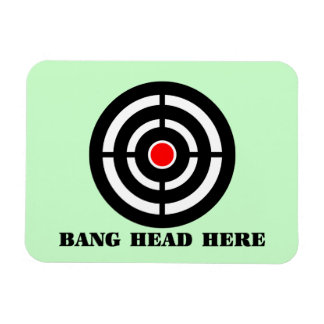 Ergonomic Stress Relief: Bang Head Here Rectangular Photo Magnet