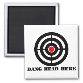 Ergonomic Stress Relief: Bang Head Here Square Magnet