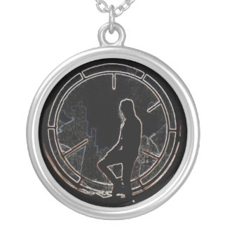 Eric By the Window Round Pendant Necklace