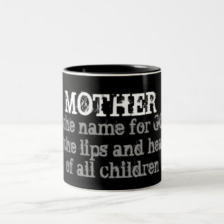 """Eric Draven """"Mother"""" Quote Two-Tone Coffee Mug"""
