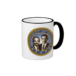 Eric Holder and the Department of Injustice Ringer Coffee Mug