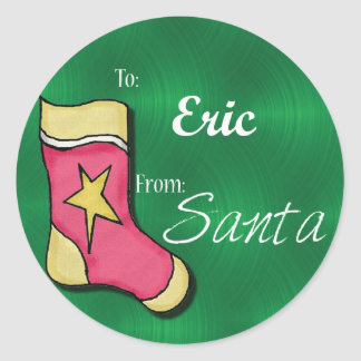Eric Personalized Christmas Label48 Stickers