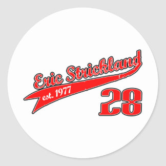 Eric Strickland Baseball Logo Round Sticker