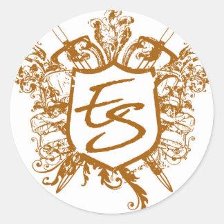 Eric Strickland Crest Round Sticker
