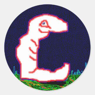 Eric the Earthworm Round Sticker