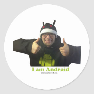 Eric, the IamAndroid Guy! Round Sticker