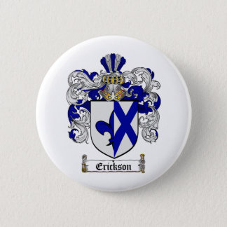 ERICKSON FAMILY CREST -  ERICKSON COAT OF ARMS 6 CM ROUND BADGE