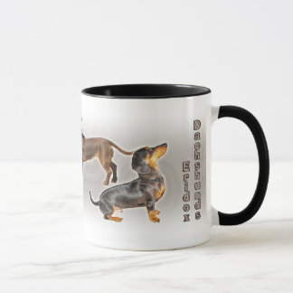 Eridox dachshunds collage mug
