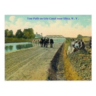 Erie Canal Tow Path Postcard