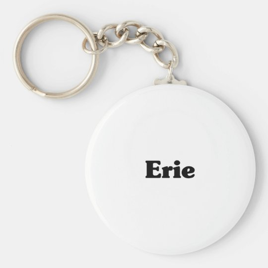 Erie Classic t shirts Basic Round Button Key Ring