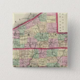 Erie, Crawford, Venango counties 15 Cm Square Badge