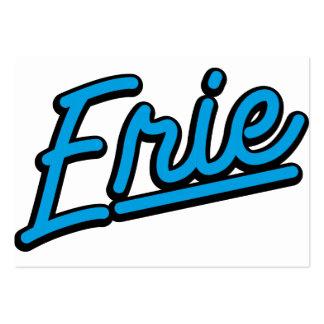 Erie in cyan business card template