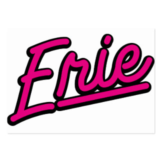 Erie in magenta business card template