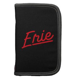 Erie in red folio planner