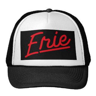 Erie in red trucker hat