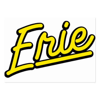 Erie in yellow business cards