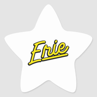 Erie in yellow stickers