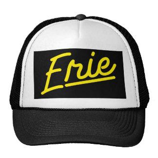 Erie in yellow trucker hat