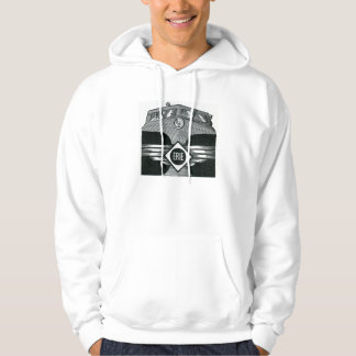 Erie Railroad Suburban Time Tables Cover 1958 Hoodie