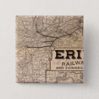 Erie Railway and connections 15 Cm Square Badge
