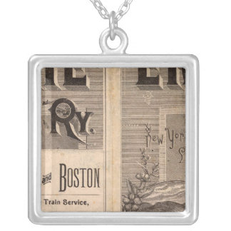 Erie Railway Silver Plated Necklace