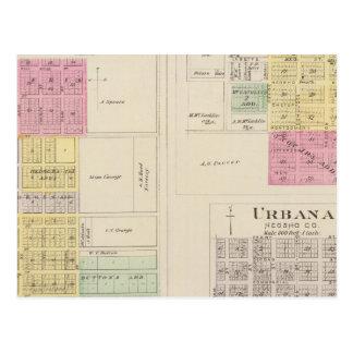 Erie, Thayer, Urbana, Kansas Postcard