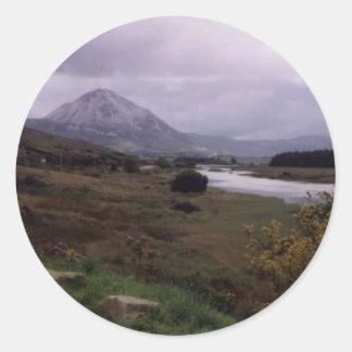 Erigal,Donegal,Ireland Classic Round Sticker