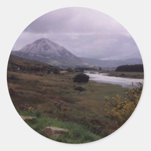 Erigal,Donegal,Ireland Round Stickers