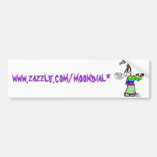 Erin copy, www.zazzle.com/moondial* bumper sticker