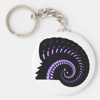 Erin Fractals Basic Round Button Key Ring