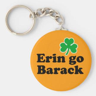 Erin go Barack Basic Round Button Key Ring